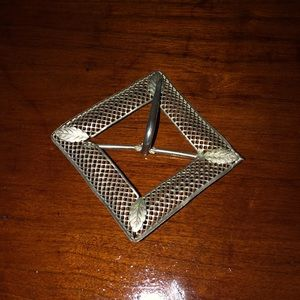 Vintage square belt buckle